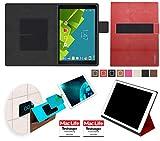 reboon Hülle für Vodafone Tab Prime 6 Tasche Cover Case Bumper | in Rot Leder | Testsieger