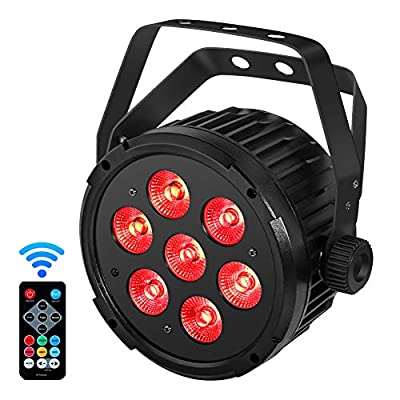 YeeSite Stage Lights with 70W RGBWA 5 in 1 LED Par Can Sound Activated by Remote and DMX Control Uplights for Wedding DJ Party Stage Lighting