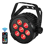 Stage Lights, YeeSite Super Bright 70W RGBWA 5 in 1 LED Par Sound Activated by Remote and DMX Control Uplights for Wedding DJ Party Stage Lighting