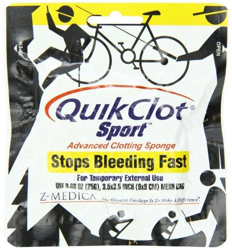 QuikClot Sport, Advanced Clotting Sponge 25 gram, 3.5' x 3.5'