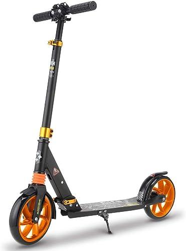 ventas en linea WYQ Kick Kick Kick Scooters para Adultos y Niños Scooter Plegable con Ruedas Que Destellan de PU, Freno de pie (Color   negro)  salida de fábrica