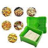 PATHD Prensa de tofu, prensa de tofu con bandeja de recogida de agua, sin BPA, fácil de quitar el agua