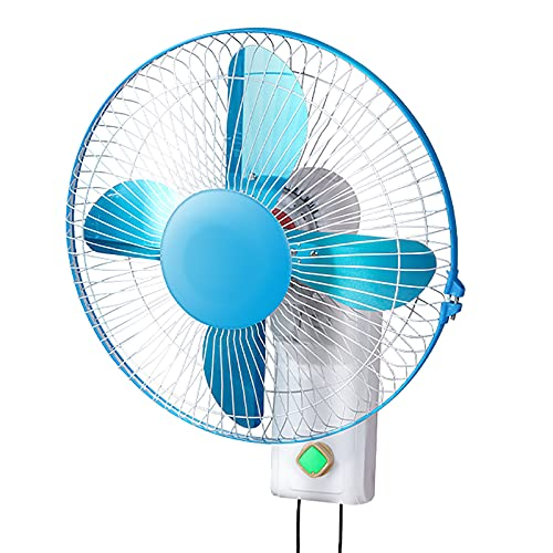 ZHIQ Ventilador de Montaje en Pared Comercial para el Hogar, 40x52cm, Oscilación Horizontal de 120 Grados, 3 Configuraciones de Velocidad, Cuerda de Tracción + Control de Perilla