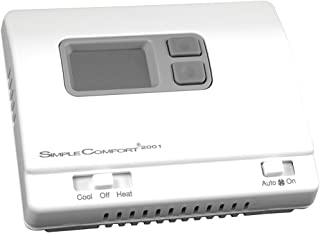 ICM Controls SC2001L Simple Comfort Non-Programmable Thermostat with Backlit Display for Single-Stage H/C or Single-Stage hp, Manual Changeover, Hardwired