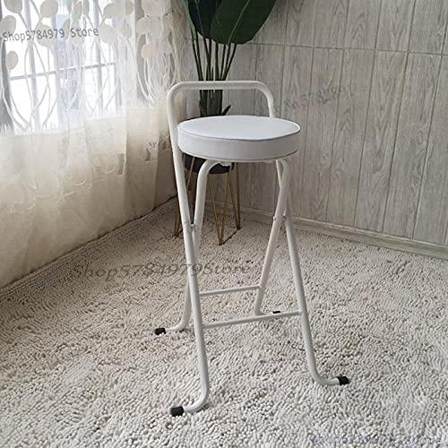 YINGGEXU Taburete alto taburete de bar silla plegable portátil taburete de pesca para el hogar simple y moderno taburete de bar trasero silla de ocio (color 65 cm)