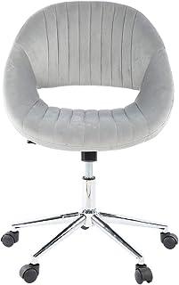 NITRIP Silla de Oficina, Silla de Terciopelo, Escritorio ergonómico elevable, Ajustable para Sala de Estar, Comedor, Oficina(Gray)