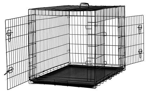 MYPETS® X-Treme Safe Hundegitterbox mit Bodenwanne für innen & außen (L= 91x60x66 cm)