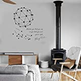 Wandtattoo Kinderzimmer Wissenschaft Kunst Aufkleber Fototapete Henry Ford Motivations-Zitat sowie eine geometrische Vinyl Wall Decal Creative Scientific Decor