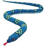 Gfhrisyty Felpa Serpiente Gigante Animal de Peluche Realista Ojos Rojos Juguete Regalos para NiiOs y NiiAs 110 Pulgadas Azul