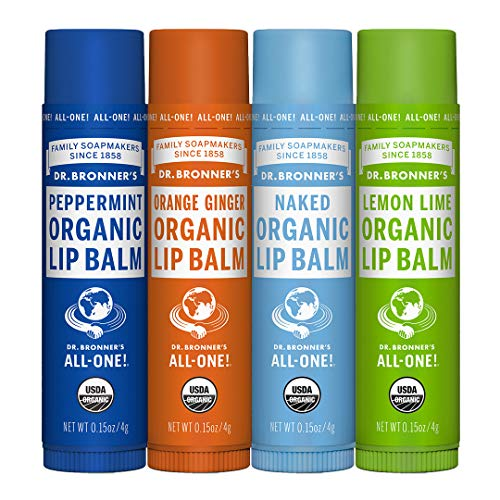 Dr. Bronner's Organic Lip Balm - Naked, Peppermint, Lemon Lime, Orange Ginger - by Dr. Bronner's