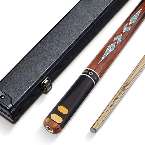 WEHOLY Pool Cue, Handmade Ash 10mm Tip Through Rod Black Eight American Nine Ball Snooker Cue Billiard with Cue Case/Lengthen Pool Cue