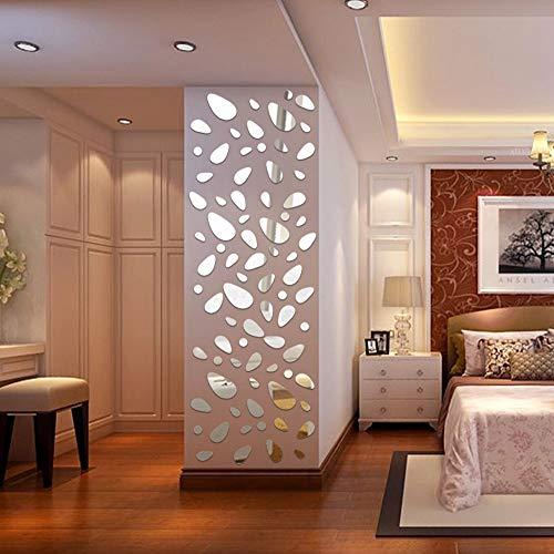 Etiqueta de la pared de BaZhaHei, 12 Unids 3D Espejo Vinilo Removible Etiqueta de La Pared Decal Home Decor Art DIY de Pegatina de pared espejo acrílico de hogar cocina decoración pegatinas