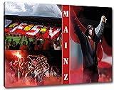 Ultras Mainz Format: 120x80, Bild auf Leinwand XL, fertig gerahmt