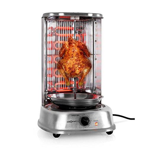 oneConcept Kebab Master - Parrilla vertical giratoria, Pollo, Gyros, Pincho giratorio verical,...