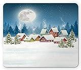Alfombrilla de ratón navideña, Paisaje navideño, Pueblo...