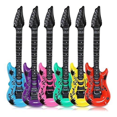 TOYANDONA 6 Piezas Foil Guitarra Globo Inflable Guitarra eléctrica Instrumentos Musicales Partido...