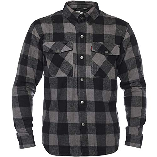 Speed and Strength Dropout Flannel Shirt Men's Street Motorcycle Jackets - Black/Grey/Medium
