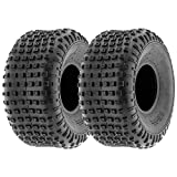MMG Set of 2 ATV Tubeless Type Tires Size 16x8-7 (205/55-7) P94 Front or Rear - 7 Inches Rim