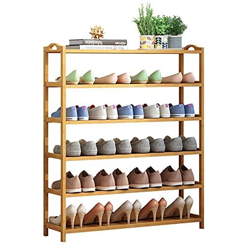Zapatera Banco de zapatos Zapatos de múltiples capas Racks Simple zapato Rack Bambú Zapato Gabinete de zapatos Hogar Dormitorio Moda Polvo a prueba de polvo Estante de pie Soportes de flores Zapatero