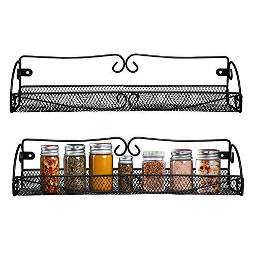 Gewürzregal - Spice Rack (2 Stück) - Wandregal für Küche, Badezimmer- L40cm, H8.5cm, W9cm -...