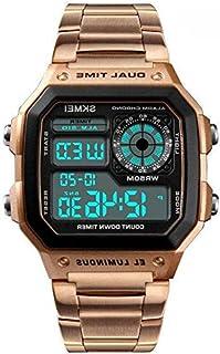 Skmei Men's Fashion Multifunctional Digital Watch Stainless Steel Casual Waterproof-1335