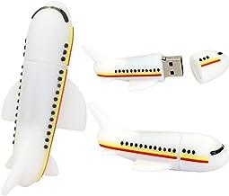 Novelty Airplane Shape 64GB USB Flash Drive Cool Pen Drive Memory Stick Plane Flash Drive Cute Thumb Drive U Disk