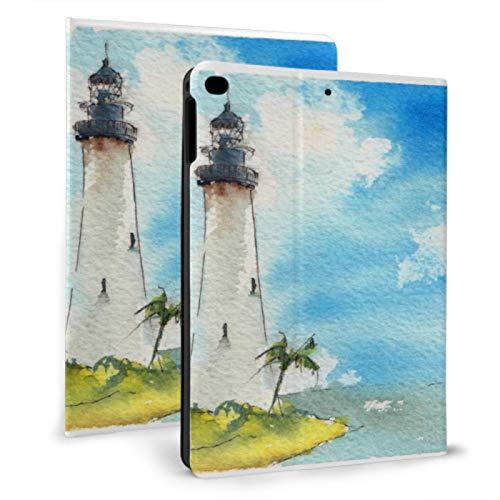JIUCHUAN Ipad Protective Sleeve Standing Tall And Straight Lighthouse Cool Ipad Covers For Ipad Mini 4/mini 5/2018 6th/2017 5th/air/air 2 With Auto Wake/sleep Magnetic Custom Ipad Case