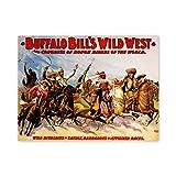 Art Advert Culture Event Buffalo Bill Wild West Show Poster Print
