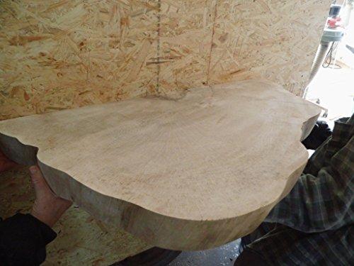 KJR Holzmanufaktur Waschtischplatte, Baumscheibe, ca. 80 x 40 x 5 cm, Waschtisch, geschliffen