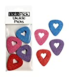 BoloPick Felt Picks for Ukulele, Guitar, and Bass with easy grip cut-out, 8 Pack (Original Heart 8 Pack)