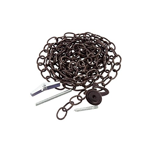KingChain 504065 Hammered Oval Decorative Chain Kit, Black