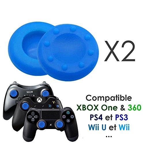 Paire de protection grip silicone pour joystick de PS4 PS3 Xbox...