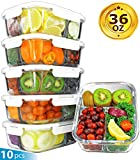 Best Glass Lunch Boxes - [36oz, 5-Pack Premium] Glass Meal Prep Containers 3 Review