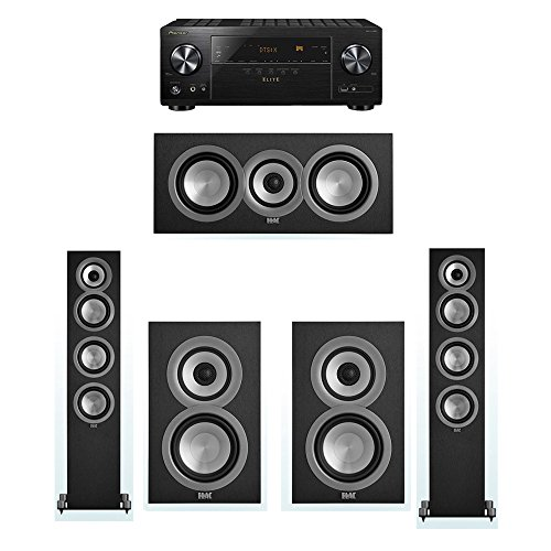 Purchase ELAC Uni-Fi 5.0 System with 2 ELAC UF5 Floorstanding Speakers, 1 UC5 Center Speaker, 2 ELAC UB5 Speaker, 1 Pioneer VSX-LX102 A/V Receiver