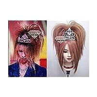 YOSHIKI シンデレラ風hide X JAPAN コスプレウィッグ/wig 皇冠無 コスチューム 変身 仮装 ステージ 舞台 ハロウィン クリスマス