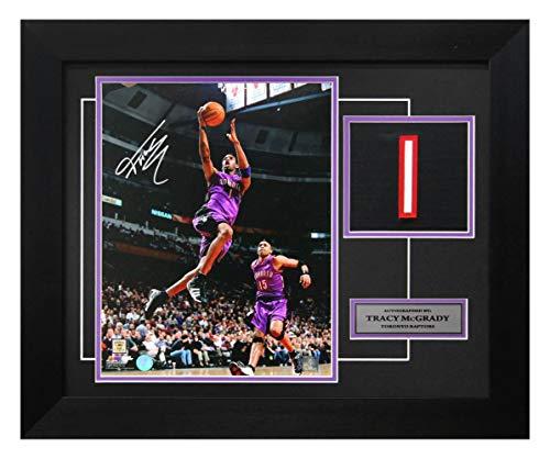 Tracy McGrady Toronto Raptors Autographed Dunk Jersey Number 20x24 Frame - Autographed NBA Jerseys