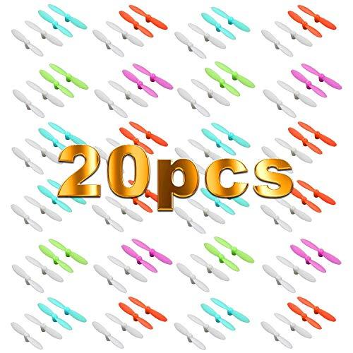 VUNIVERSUM 5 Sätze (20 Stück) Propeller Rotorblätter Blade Revell Nano WLtoys V272 V676 Eachine E10 E10C E10W Cheerson CX-10 CX10 CX-10A CX-10C CX-10W CX-10D CX-10WD 30mm Quadcopter Drohne Copter