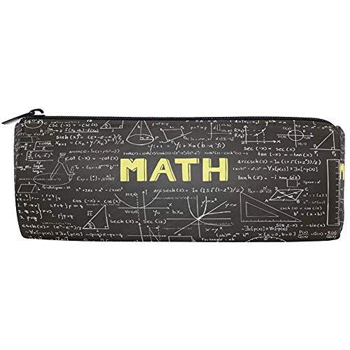 Pencil Bag Education Wissenschaftliche Mathematikformel, Pencil Case Pen Zipper Bag Beutelhalter Makeup Brush Bag für das Büro in der Schule, 7,7 x 7,7 x 20,5 cm