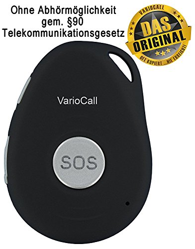 AAL Homecare VarioCall - Mini GPS-Tracker mit Notruf und Sprachverbindung zu Handy oder Festnetz-Telefon über GSM für Kinder und Senioren