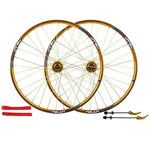 Accesorio de bicicleta de ejes de liberación rápid Placa de ruedas de bicicleta 26 pulgadas MTB BICI FRENTE Y TRASERO RUEDA TRASERO WALL WALL ALAY RIONS RIMS CASSETE FRENO CASSETE HUB 7/8/9/10 VELOCID