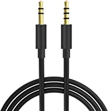 Best 5FT Extra Long Male to Male Universal Aux Audio Stereo Cable for All 3.5mm-Enabled Devices, Apple iPhone, iPad, iPod, HDTV, PC, Phone, Windows, MP3, Headphones, Home/Car Stereos and More (5FT) Review