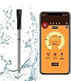 Termómetro inalámbrico para carne, termómetro Termómetro de cocina inteligente con sonda Bluetooth para ahumador Cocina Parrilla Horno