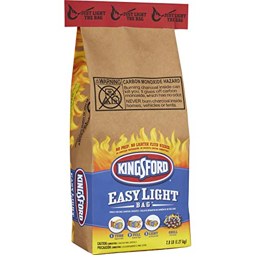 Kingsford Charcoal Briquettes in an Easy Light Bag, 2.8 Pounds (Pack of 6)