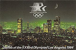 Games of the XXIIIrd Olympiad Los Angeles 1984 downtown Los Angeles, California, CA, USA Old Vintage Track & Field Postcard Post Card