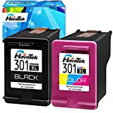 HavaTek Remanufacturados Cartuchos de tinta 301XL 1Color 1Negro para hp 301 XL para hp Officejet 2622 2620 4630 Deskjet 3050 3055 2540 2050 1000 1510 1512 1514 Envy 5530 4500 4503 4507 4508 Impresoras