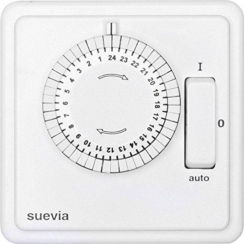 Suevia SU280447 Unterputz-Zeitschaltuhr analog Tagesprogramm 1200W IP20 EIN/Auto/AUS-Programm