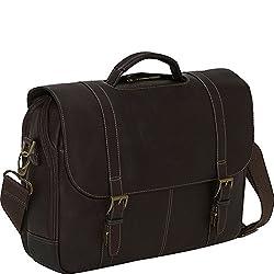 b77c463e5743 Samsonite Colombian Leather Flap-Over Laptop Messenger Bag