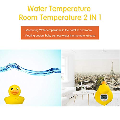b&h Baby Thermometer, The Infant Baby Bath Floating Toy Safety Temperature Thermometer (Classic Duck)