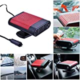 fan heater car - Portable Car Heater 12V/150W Fast Heating Quickly Defrost Defogger Demister Heat Cooling Fan Auto Dryer Windshield Defroster Plug in Cigarette Lighter 360 Degree Rotary Base with Air Purification