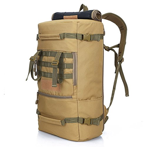 SINCERE@ hommes sac Alpinisme de voyage sac à dos et les femmes sac à bandoulière grande montagne Voyage en plein air sac à dos grande capacité 60L (kaki)